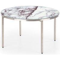 Trey soffbord - Vit marmor (Glas) / Metall