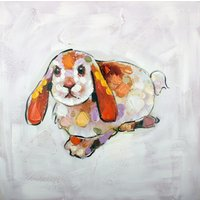 Tavla oljemålning Kanin