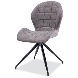 Marilyn stol - Grå/mattsvart