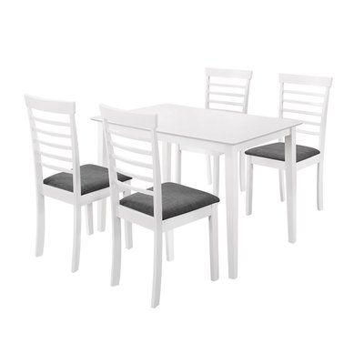 Matilda matgrupp - Bord inklusive 4 st stolar - Vit