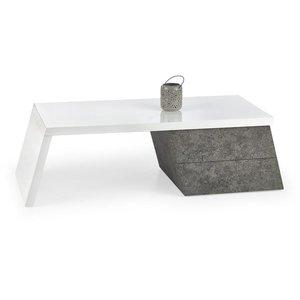 Bisera soffbord - Vit (Högglans) / betongmönster & 2690.00