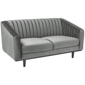 Alden soffa - Grå sammet / Wenge