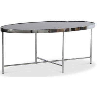 Java Ovalt soffbord - Krom / Svart marmorglas