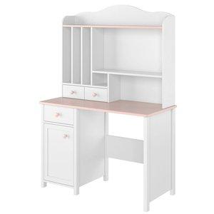 Stephany skrivbord - Vit/rosa