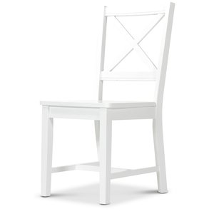 Cross stol träsits - Vit