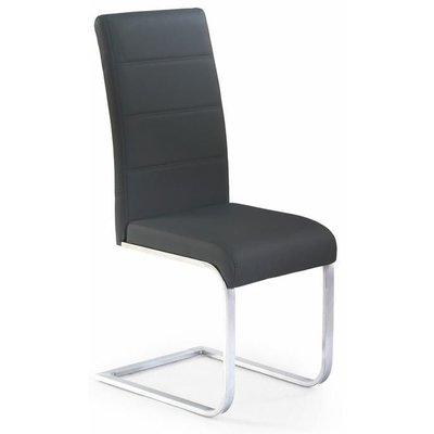 Macy stol - Svart (PU) / Krom