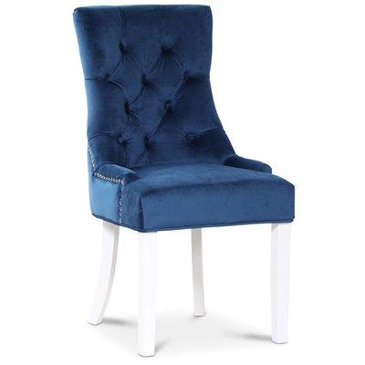 Tuva Decotique stol (Rygghandtag) - Blå sammet