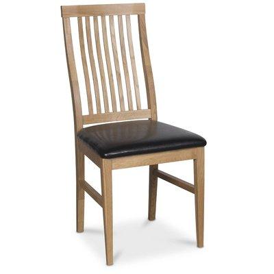 Österlen Kivik stol - Ek/svart konstläder