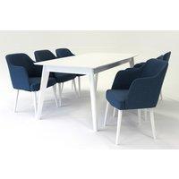 Sarek matgrupp - Bord inklusive 6 st Sarek stolar - Vit