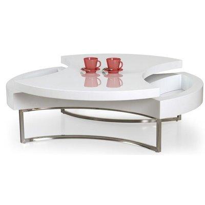 Turn 360 soffbord med förvaring - Vit/Krom