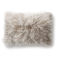 Shansi kuddfodral fårskinn - Beige/vit