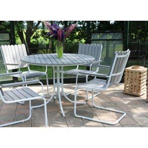 Holmsund matgrupp bord inkl. 4 stolar - Vit/grå