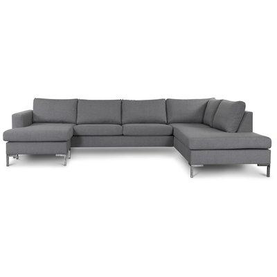 Nova U-soffa Ljusgrått tyg - Höger