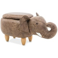 Elefant puff - Brun/ek