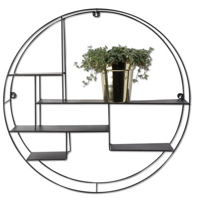 Funkis vägghylla Industry svart - 60 cm diameter