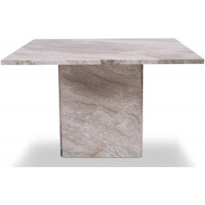 Kindbro soffbord 75 cm - Silvrig marmor