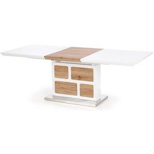 Murray matbord utdragbart 160-220 cm - Vit / Ljus ek