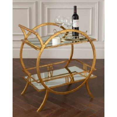 Begonia serveringsbordv- Guld / Spegel