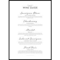 WINE GUIDE - Poster 50x70 cm
