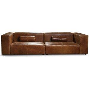 Madison 3-sits soffa 300 cm - Anilinläder cognac