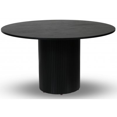Pose matbord Ø130 cm - Svartbetsad ek