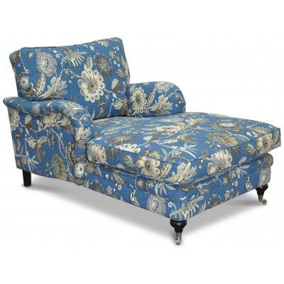 Savoy vilofåtölj med blommigt tyg - Havanna blå
