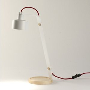 NordiForm JAZZ bordslampa LED - Vit / Röd kabel