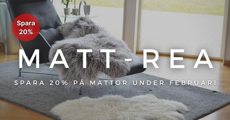 Mattrea - Spara 20% på alla mattor