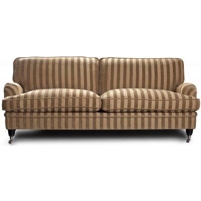 Howard Sir William 3-sits soffa (Dun) - Mobus Darkbeige Stripe