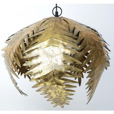 Palmblad taklampa - Guld