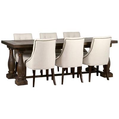 Matgrupp: Lamier matbord - brun + 6 st Tuva europa ver II stolar