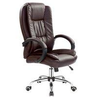 Bojan skrivbordsstol - Mörkbrun (konstläder)