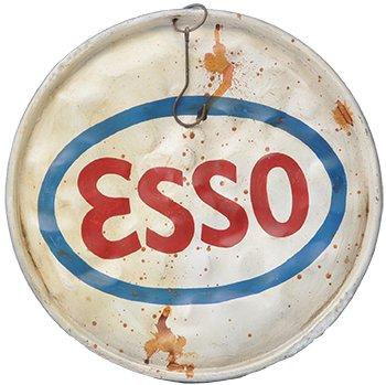 Oljefatslock vintage Ø58 cm - Esso