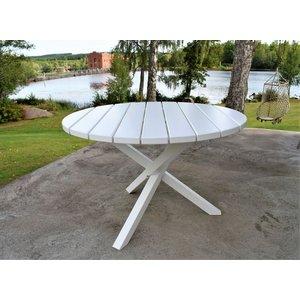 Scottsdale matbord runt 112 cm - Vit