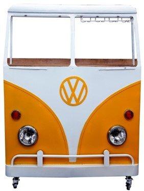 Vintage VW kombibar - Vit/gul