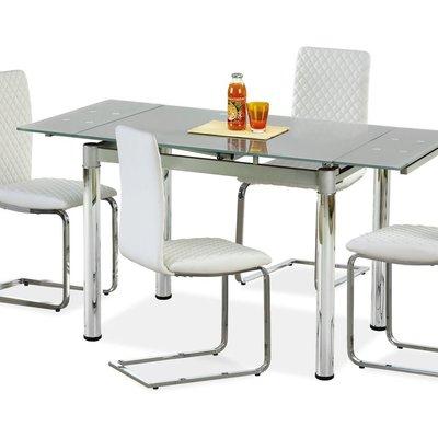 Aldona matbord 96-142 cm - Grå/krom