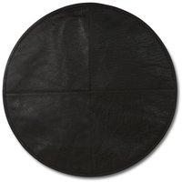 Stolsdyna i läder - Mörkbrun
