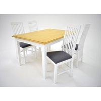 Ramnäs matgrupp - Bord inklusive 4 st Vindö stolar - Vit/ek