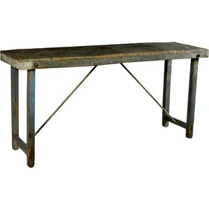 Kampala konsolbord - Vintage trä/zink top