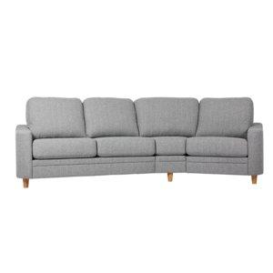 Ares svängd 4-sits soffa - Valfri färg!