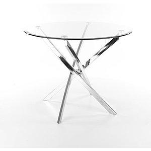 Charlotte cafébord - Glas/krom