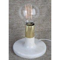 Mellby bordslampa - Vit marmor / Mässing