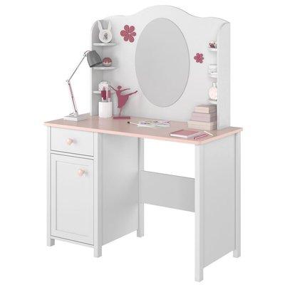 Stephany sminkbord - Vit/rosa