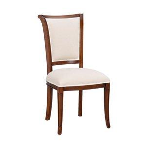 Aston stol - Valnötsbrun/beige