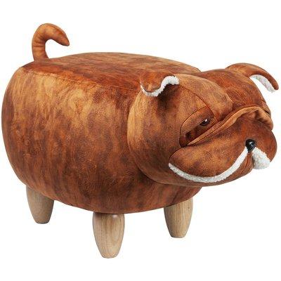 Hund sittpuff - Brun