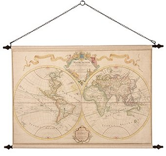 Väggdekoration - Världskarta Grand