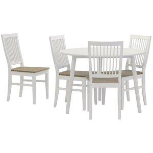 Matgrupp: Day matbord - vit + 4 st Selma stol - vit / oljad ek
