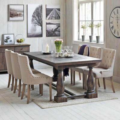 Matgrupp: Lamier matbord - Brun + stolar