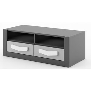 Arden TV-bänk - Graphite/grå