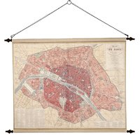 Väggdekoration - Paris stadskarta